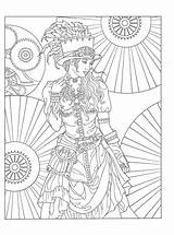 Coloring Pages Steampunk Adults Adult Books Printable Sheets Creative Dover Val Colouring Publications Haven Wilson Noble Marty Fashions Fr Bird sketch template