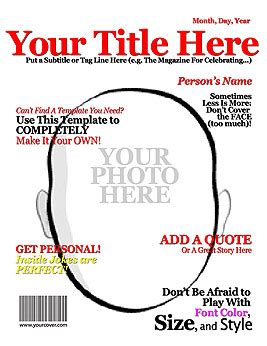 free magazine cover template make your own title magazine cover