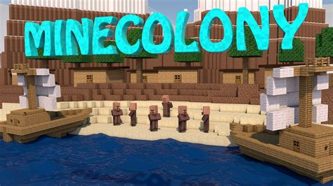 Minecraft Boat Town by Minecraft Minecolony Kingdom Mod Showcase Village Mod