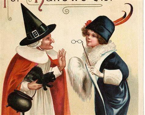 vintage halloween witch chat image  graphics fairy