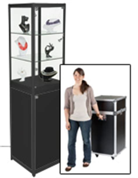trade show storage cabinets portable display cases exhibit booth fixtures