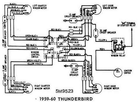 1960 Thunderbird Wiring Schematic ford thunderbird 1959 1960 windows wiring diagram