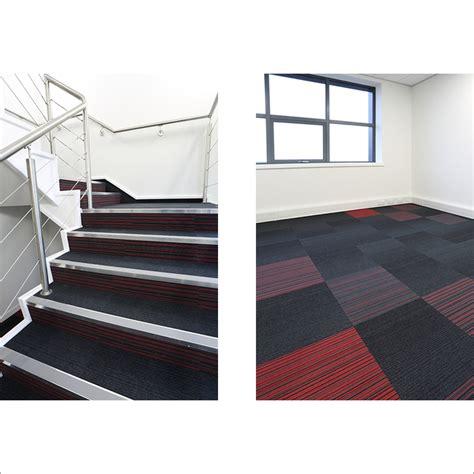 stairs and carpet tiles burmatex design