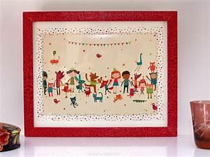 Cadre Chambre Enfant : diy un cadre color pour chambre d 39 enfant purple jumble ~ Teatrodelosmanantiales.com Idées de Décoration