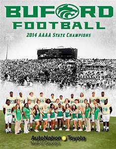 Buford High School Football Program 2015 by Buford High ...