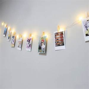 Guirlande De Photo : guirlande electrique lumineuse et pinces pour photo instax polaroid ~ Teatrodelosmanantiales.com Idées de Décoration