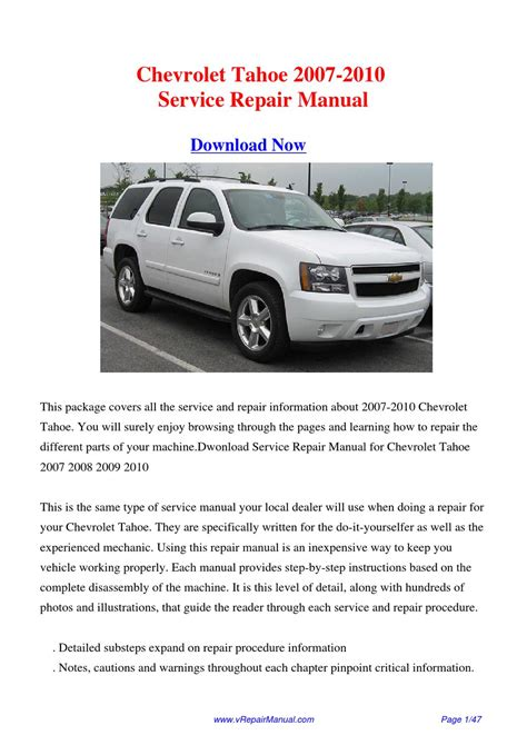 motor auto repair manual 2010 chevrolet tahoe on board diagnostic system download 2007 2010 chevrolet tahoe service repair manual by huii jongg issuu