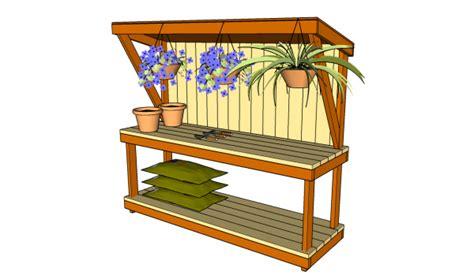 garden work bench plans myoutdoorplans