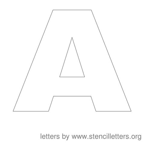 printable letter stencils stencil letters