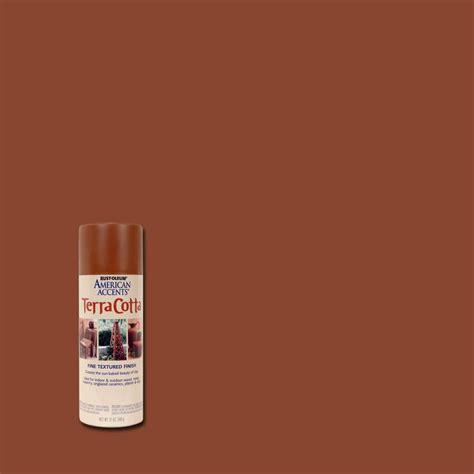 rust oleum american accents 12 oz terra cotta flat clay pot spray paint 6 7905830 the