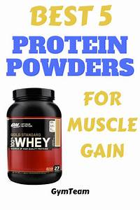 Check Best 5 Protein Powders For Muscle Gain  And Choose The Right Protein Powder For You