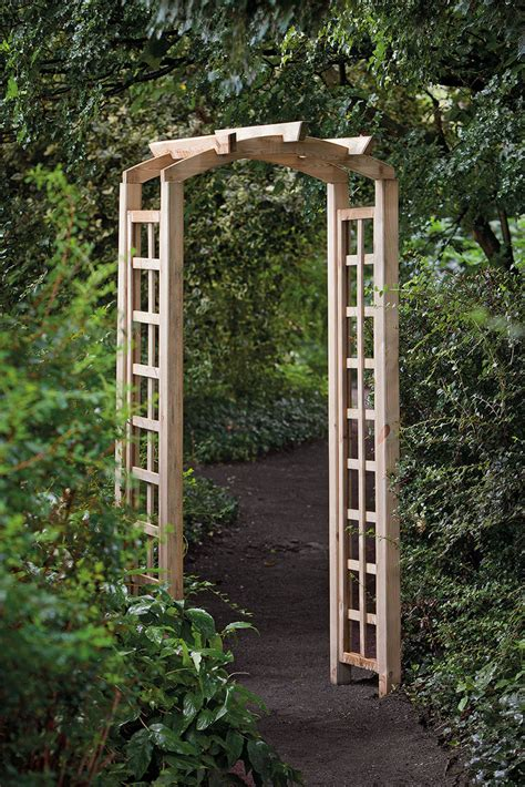Large Trellis by Curved Trellis Garden Arch