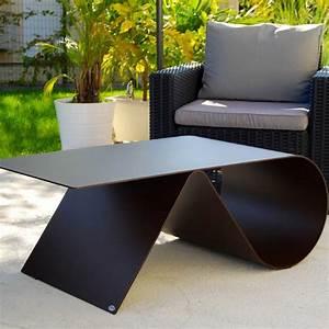 Table Basse En Acier : table basse de jardin de luxe en acier design goupille ~ Melissatoandfro.com Idées de Décoration