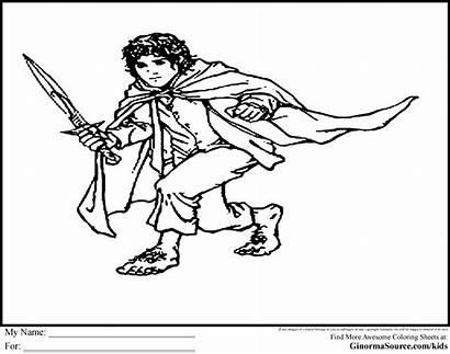 Hobbit Coloring Pages Bilbo Baggins Lord Rings