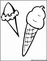 Cream Ice Sandwich Cone Template Coloring Sheet Sundae sketch template