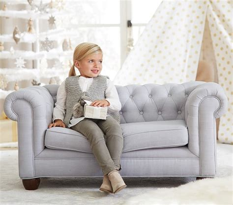 Mini Couches For by Chesterfield Mini Sofa Pottery Barn