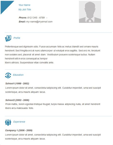 Simple Resume Template by Simple Free Resume Template Dscmstat Us Dscmstat Us