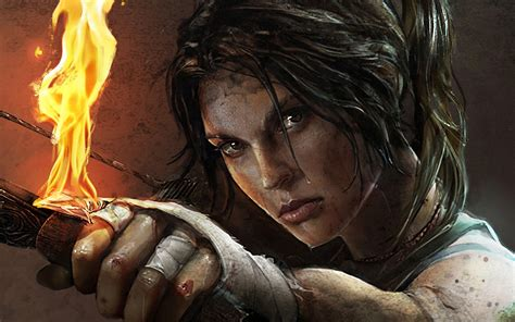 wallpaper lara croft tomb raider fan art  games