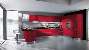 Rote Arbeitsplatte Küche : k che in rot gestalten das sinnliche rot ~ Sanjose-hotels-ca.com Haus und Dekorationen