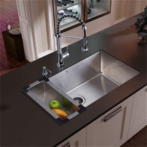 kitchen sink with colander vigo vg15112 undermount kitchen sink faucet colander and 6041