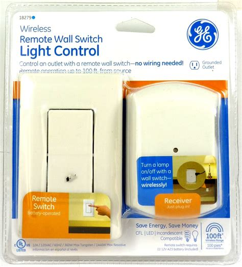 lot of 2 ge 18279 wall switch light remote with 1 outlet receiver ebay