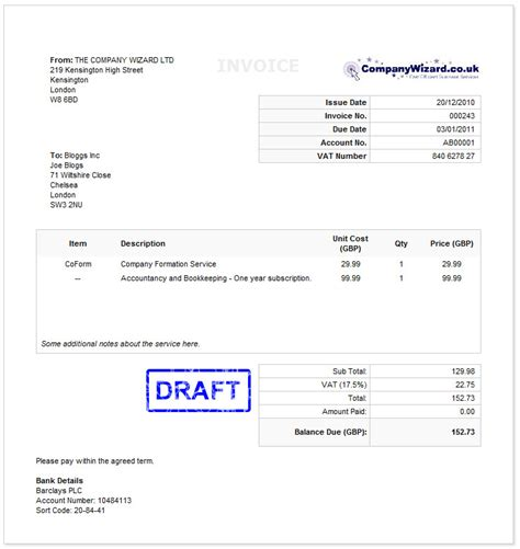 Sle Invoice Template Invoice Template Uk 28 Images Simple Invoice Template