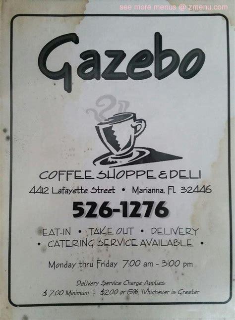 gazebo marianna fl menu of gazebo coffee shoppe deli restaurant