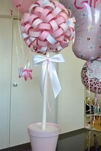 topiari centre de table pour baby shower fille karen With chambre bébé design avec centre de table fleurs pour anniversaire