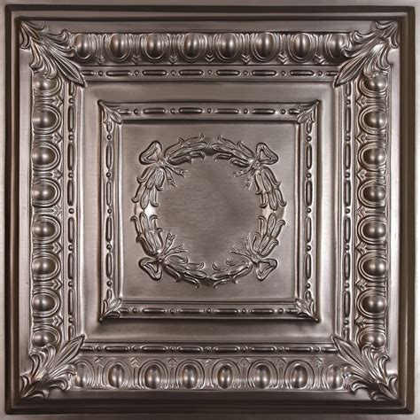 Ceilume Empire Faux Tin Ceiling Tile, 2 Feet X 2 Feet Lay