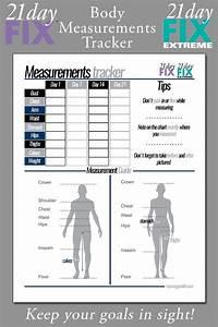 21 Day Fix Body Measurements Tracker