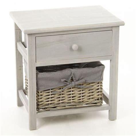 atmosphera table de chevet avec panier de rangement bois pas cher achat vente chevet