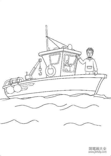 Kleurplaat Brandweerman Sam Boot by 救援船简笔画图片 轮船简笔画 简笔画大全