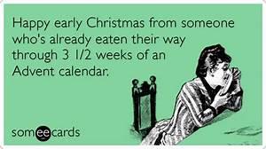 Happy 1 Advent : advent calendar early christmas eat funny ecard ~ Haus.voiturepedia.club Haus und Dekorationen