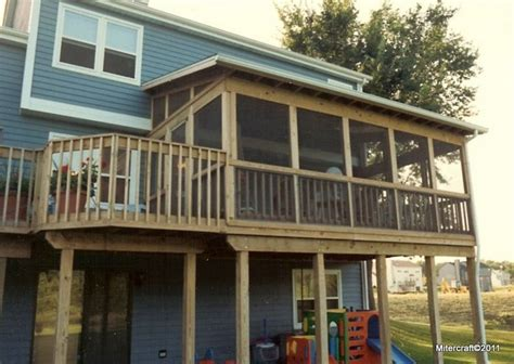 shed roof decks and two story deck on pinterest