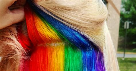 hidden rainbow hair   trend  wont  coming