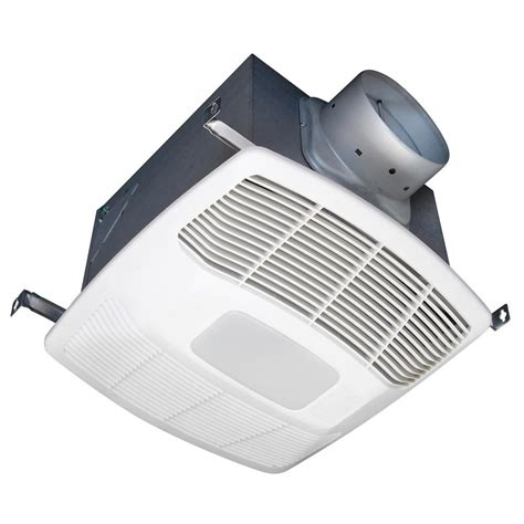 humidity sensing bathroom fan with light air king eco white 130 cfm humidity sensing bathroom