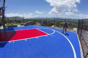 Back Yard Basketball Court