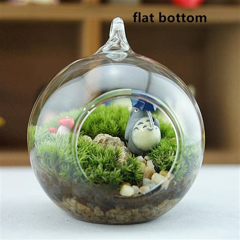 hanging glass ball candlesair plants terrarium household