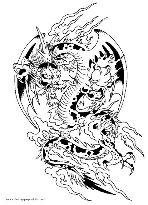 Chinese Dragon color page | craft | Pinterest | Chinese