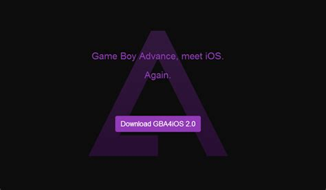 Gba4ios Game Boy Advance Emulator For Iphone Returns After