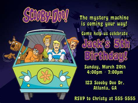 scooby doo birthday party invitations dolanpedia