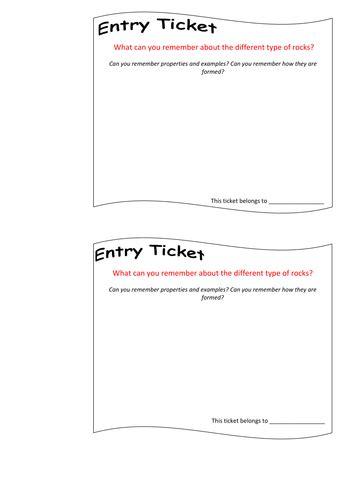 entry  exit ticketprogress checkerin lesson