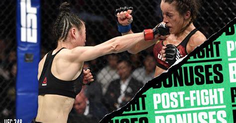 ufc  post fight bonuses zhang jedrzejczyk put  fight