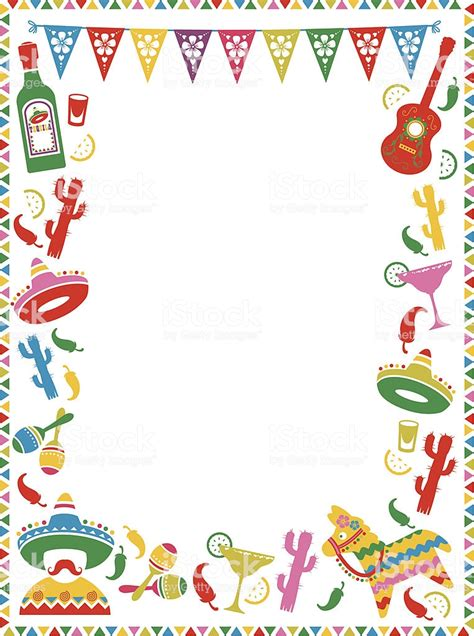 mexican party frame stock illustration  image