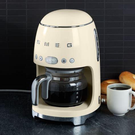 smeg cream drip coffee maker reviews crate  barrel