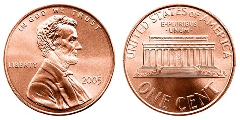 2005 Lincoln Memorial Cent Copper Plated Zinc Penny Value
