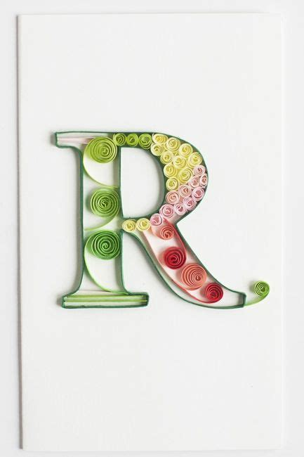 monogram color  quilling letters quilling designs quilling patterns