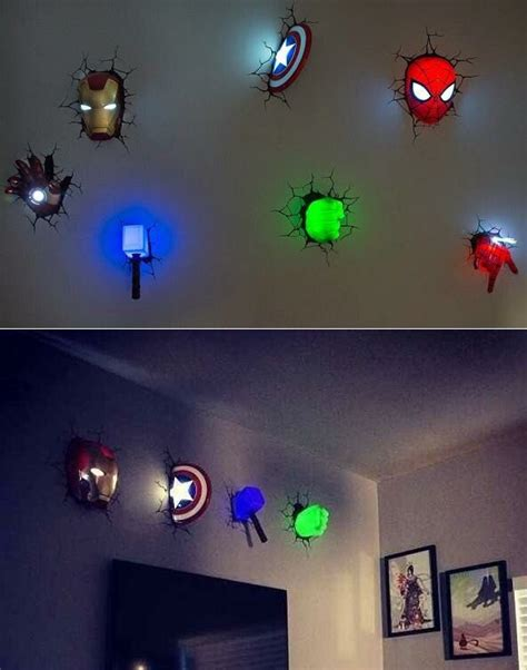 wall lights for games room amazing marvel 3d wall lights for a superhero themed