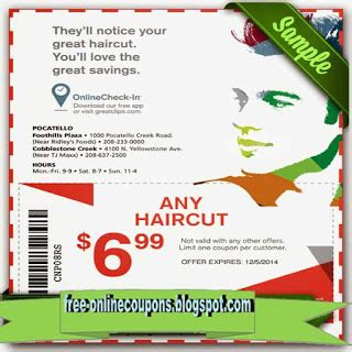 printable coupons  great clips coupons