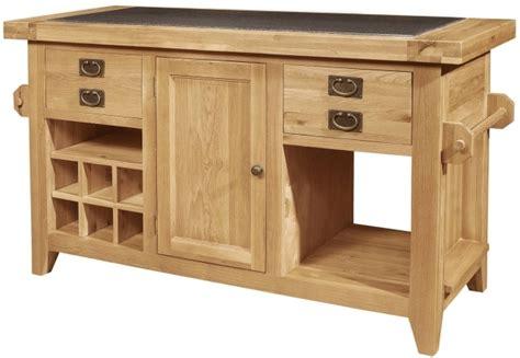 roma solid oak furniture large granite top kitchen island